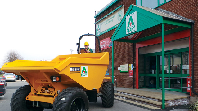 A Plant Hire Equipment Cleaning