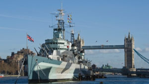 Cleaning HMS Belfast